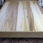 Natural poplar wood platform bedfram hand made by Amish manufacturers