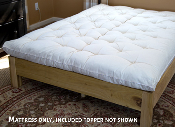Wool Mattress (Shown without topper)