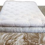 Mattress topper with ECO-Pure Wool fill & Cotton cover