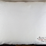 Comfort pillow 27x27 Euro size, filled to the firmness you prefer