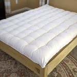 "Premium wool mattress approx 7"" thick for total comfort"