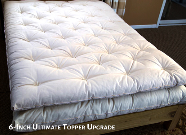 6-Inch Ultimate Wool Topper and Mattress
