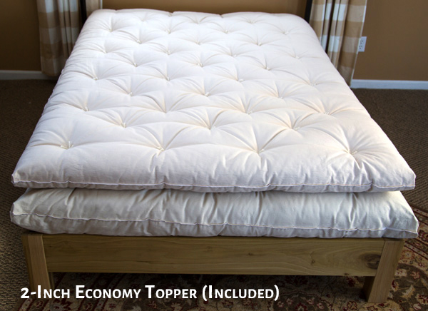 2-Inch Economy Wool Topper and Mattress