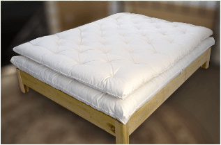 Wool mattress topper to add on to your wool mattress or other bed