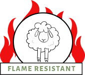 Wool is naturally flame resistant