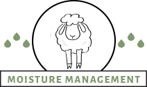 Wool fibers for moisture management